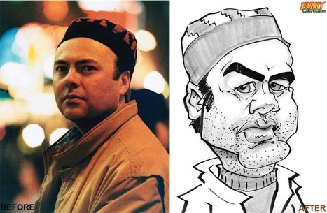 Our latest caricature Musician Black & White Caricature | Custom Caricatures | Scoop.it