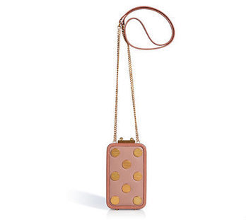 MARC BY MARC JACOBS Nude Leather Metal Dots Phone Box Purse   Top Handbags   Scoop.it