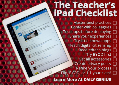 It's time to review the 'Teacher's iPad Checklist' - Daily Genius | learning by using iPads | Scoop.it