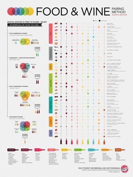 Food & Wine Pairing Method - Blog About Infographics and Data ... | Golf Infographics | Scoop.it