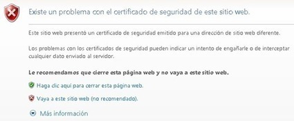 Problema con el certificado de seguridad de este sitio web | Running by josem2112 | Scoop.it