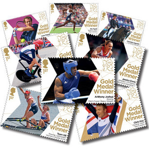 UK Celebrates Gold Medalists with Royal Mail Stamps | Creative Feeds | Scoop.it