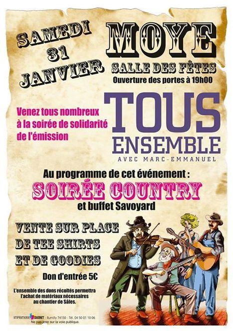 TOUS ENSEMBLE : soirée de solidarité à Moye (74150) | Tout Ce Qui Se Passe Près De Chez Moi .fr | Scoop.it