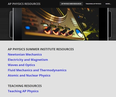 AP PHYSICS RESOURCES | Physics Resources | Scoop.it