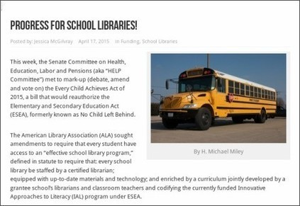 School Library Monthly Blog » Blog Archive » School Libraries Make Some Progress in ESEA Legislation | Information Science | Scoop.it