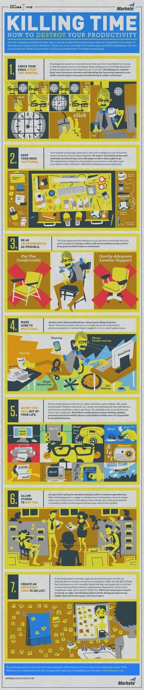 7 Ways to Destroy Productivity - Lifehack | Leadership Training | Scoop.it