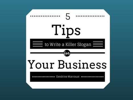 5 tips to write a killer slogan for your brand | Digital-News on Scoop.it today | Scoop.it