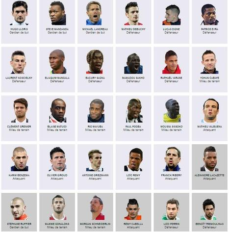 Les 23 (+7)Bleus sélectionnés pour la Coupe du monde 2014 | Epic pics | Scoop.it