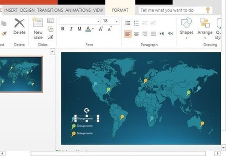 Free Word Map Infographic Templates For PowerPoint | computer training | Scoop.it