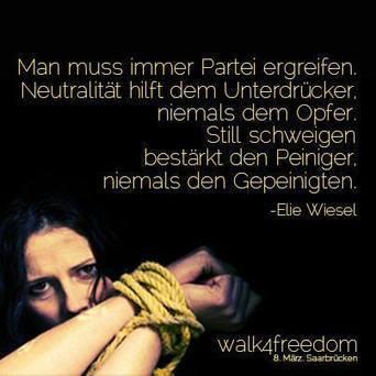 Der walk4freedom am 8. März in Saarbrücken | Abolish Prostitution deutsch | Scoop.it