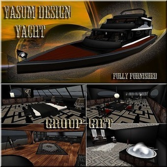 Dreamer's Virtual World: FREE Fully Furnished Yatch | Second Life Findings | Scoop.it