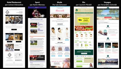 La Collection Message Business : 5 Directeurs Artistiques rénovent l'email design | Email Marketing | Scoop.it