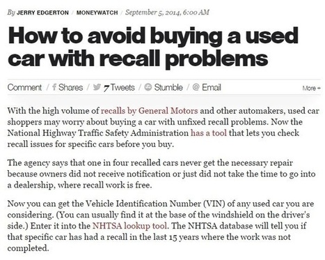 Used Cars for Sale in Oregon: Tips on Avoiding Recalls and Damages | Seaport Auto | Scoop.it