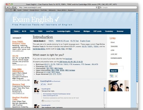 EXAMS: Exam English - Free Practice Tests   ESL resources for B2   Scoop.it