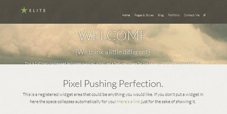 Top 10 fixed header wordpress themes for 2013   E-learning UX & Moolde   Scoop.it