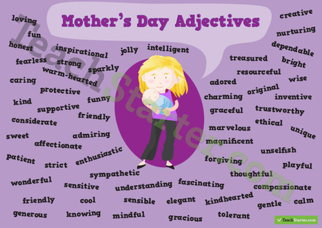 Mother's Day Adjectives Poster | Lesson Plans | Scoop.it