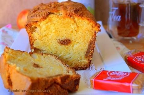 Cake aux pommes et au spéculoos · Aux delices du palais | Recette Dessert Gâteau & Cake | Scoop.it