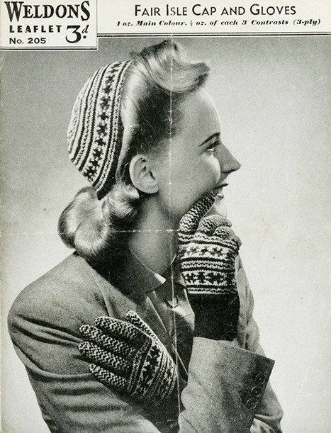 1940s Patterns to Knit   V&A   Handcraft - knitting, crocheting, sewing, embroidery   Scoop.it