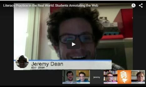 Literacy Practice in the Real World: Students Annotating the Web | Educator Innovator | Into the Driver's Seat | Scoop.it