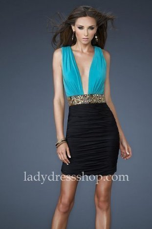 Deep Peacock/Black La Femme 18487 Sexy Jersey Neckline Short Cocktail Dresses [Peacock/Black La Femme 18487] - $160.00 : Ladys Dresses | Dresses Cheap for Lady | prom dress | Scoop.it