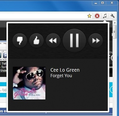 Control Grooveshark, Pandora & Other Music Playback From Chrome Toolbar | Time to Learn | Scoop.it
