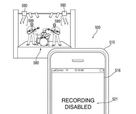 Apple valide son brevet qui vous empêchera de prendre des photos dans les concerts, mais pas que | E-Music ! | Scoop.it