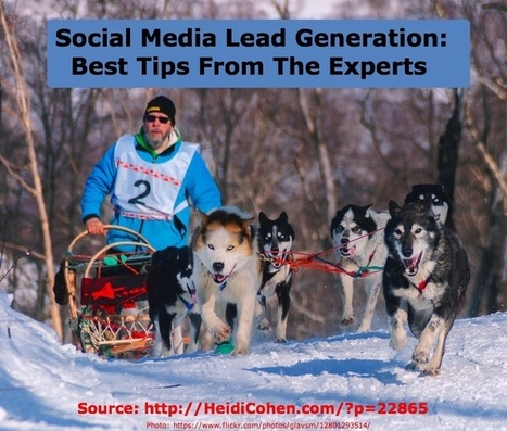 Social Media Lead Generation: Best Tips From The Experts - Heidi Cohen | Social Media Marketing | Scoop.it