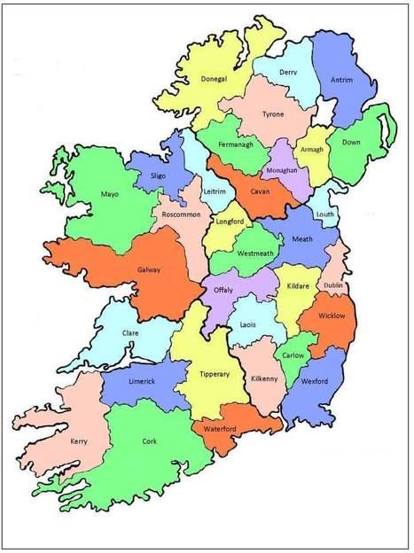 Map of Ireland   James Ireland   Scoop.it