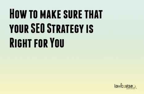 How to make sure that your SEO Strategy is Right for You | LOWCOSTSEO.CO | Scoop.it