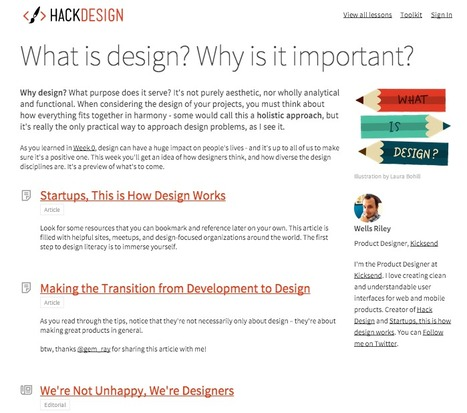 A Digital Design Learning Hub Created Around Curated Content: Hack Design | Curation in Higher Education | Scoop.it