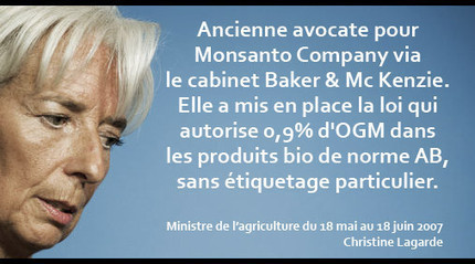 Brèv'info : Christine Lagarde liée à Monsanto... ? - Le Club de Mediapart | Abeilles, intoxications et informations | Scoop.it