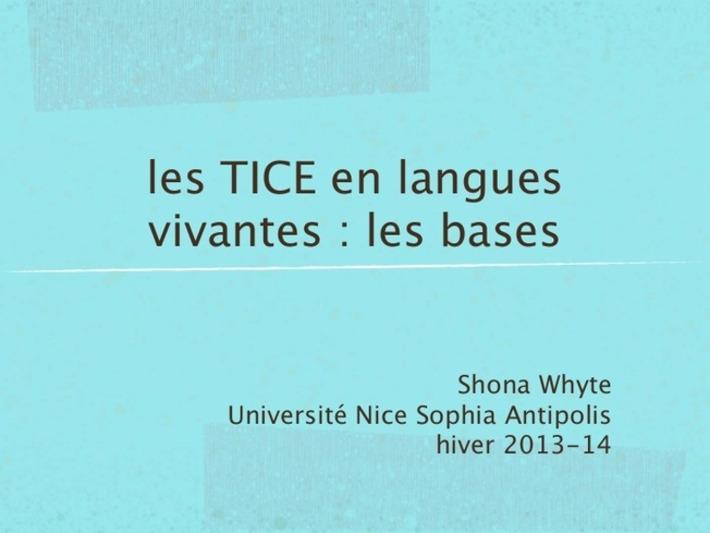 Les bases en TICE pour les langues vivantes   T...   TIC et TICE mais... en français   Scoop.it