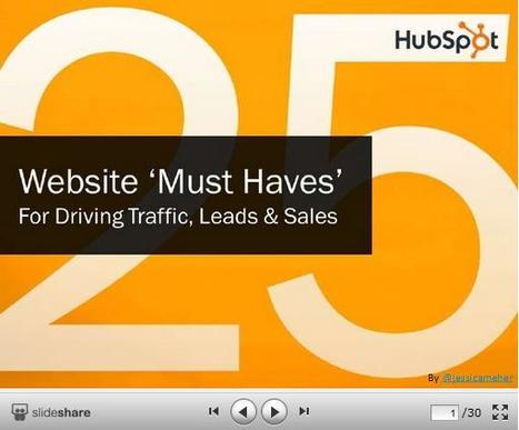 "25 Website ""Must Haves"" for Driving Traffic, Leads and Sales 