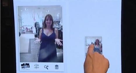 Morgan connecte son magasin des Champs Elysées avec le Tweet Mirror | Connected Store | 2- Du social retailing à l'innovation des points de vente | Scoop.it