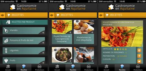 Découvrez la nouvelle application Gastronomie en Aquitaine | Gastronomie en Aquitaine | Agriculture en Dordogne | Scoop.it