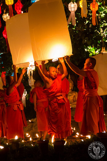 Photo Essay: Yi Peng Celebration at Wat Pantao Chiang Mai | Festivals and Celebrations Around the World | Scoop.it
