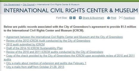 Greensboro launches website to detail city's agreement with ... | Civil Rights | Scoop.it