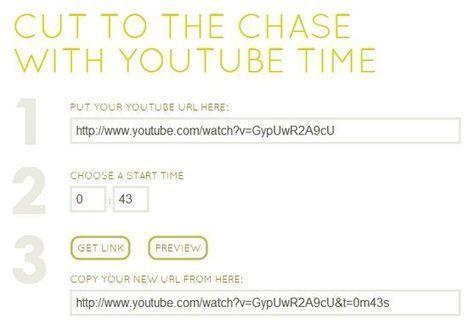 YoutubeTime, mira solo la parte que te interesa de un vídeo de Youtube | GeeksRoom | Cajón de sastre Web 2.0 | Scoop.it