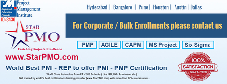 PMI-PMP Certification Training in Hyderabad Starts from 25st April2015 By StarPMO   sap training in hyderabad   Scoop.it