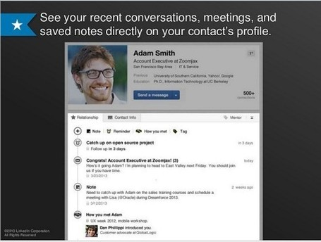 New LinkedIn Contacts: Aims to Be Your Personal Assistant | Neuro-Immune Regulatory Pathways | Scoop.it