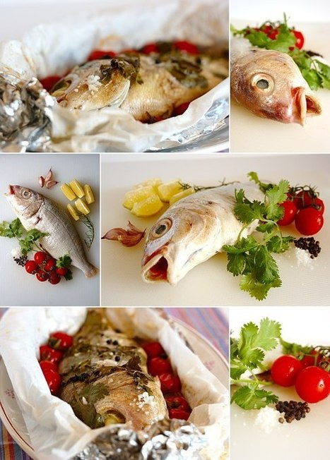 Roasted sea bream with coriander and cherry tomatoes | Things Gaelle likes | Scoop.it