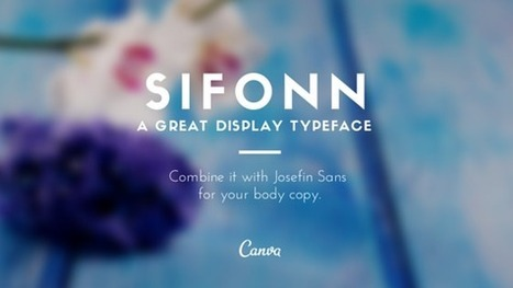 Three Fresh Font Pairings to Inspire Your Designs | Design & Media | Scoop.it