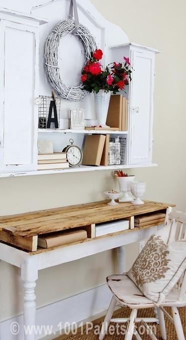 DIY: Rustic Pallet Top Desk | DIY | Scoop.it