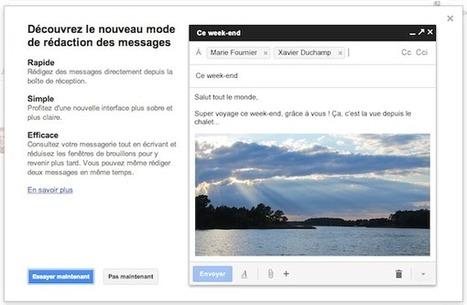 Gmail: avez-vous essayé la nouvelle interface de rédaction de messages? | Actualité sur Google | Scoop.it