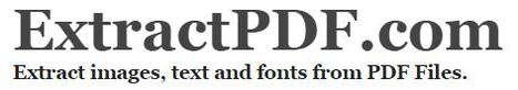 ExtractPDF - a Free online PDF Extractor | technologies | Scoop.it