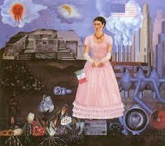 Etudier un tableau : autoportrait à la frontière entre les Etats-Unis et le Mexique de Frida Kahlo | Arts et FLE | Scoop.it