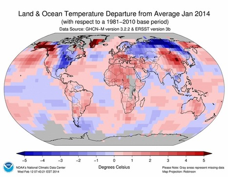 Play It Again: January Continues Globe's Warm Trend | Climate Central | l'environnement sur la planète Terre | Scoop.it