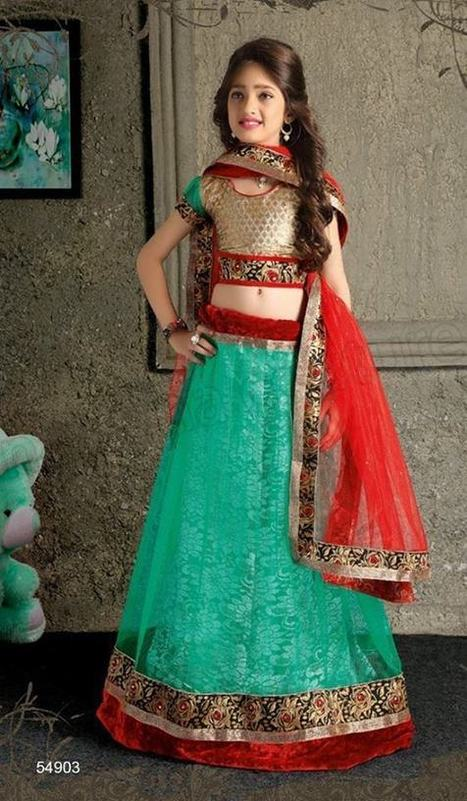 Natasha Couture Fancy Kids Lehenga Choli | Style | Strawberry Chiffon RTW LZahra Ahmad Fall Winter Exclusive Collection 2013atest Collection 2013 For Ladies. | Scoop.it