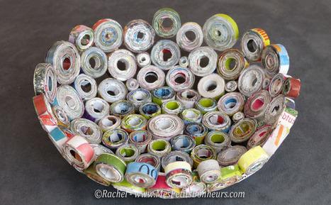 Vide poche en papier recycl id - Bricolage facile avec du papier ...