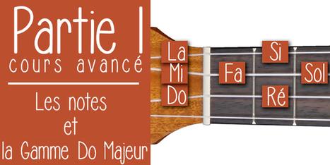 Les notes -la gamme Do Majeur au ukulélé | tablature et partition ukulele | Scoop.it